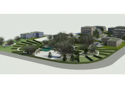 Planungsentwurf Gesamtansicht Grünfläche