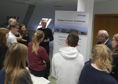 Projekt-Präsentation im Goethe-Gymnasium, Oktober 2018