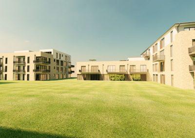 Blick vom Innenhof Wohnen & Bürogbäude