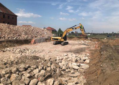 Abriss der ehemaligen Kasernengebäude in Ludwigslust, April 2019
