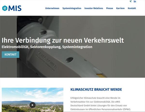 Website eMIS Deutschland GmbH